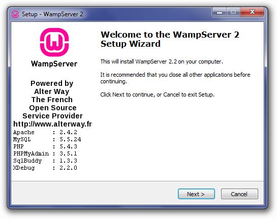 wampserver-setup-wizard