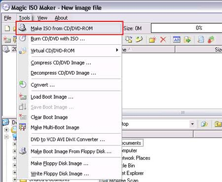 Make ISO From CD DVD