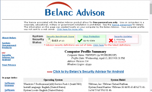 Belarc advisor For Windows