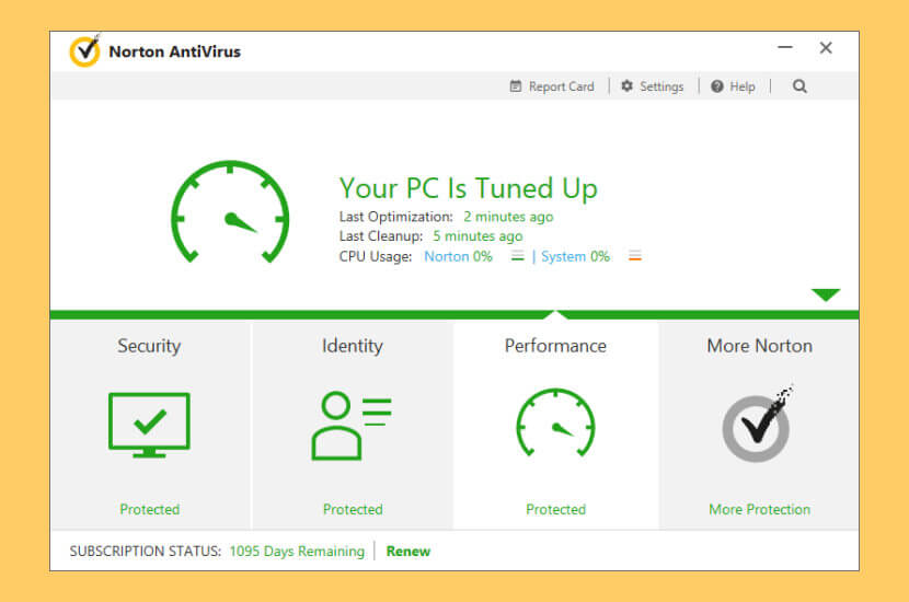 Norton Antivirus PC tuned Up