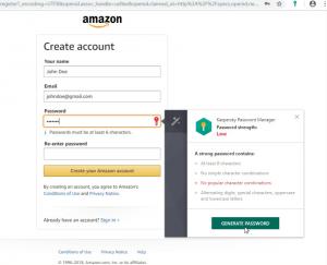 Kaspersky Password-Site