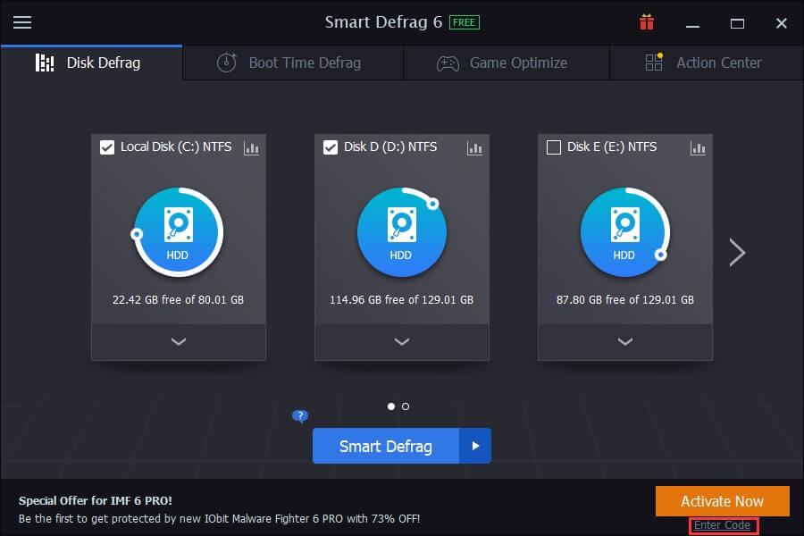 smart defrag home
