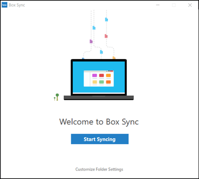 Box Sync Welcome Screen