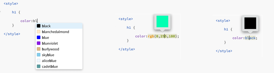 Color-Picker-and-Highlighter in Brackets Text Editor