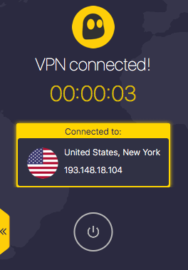 CyberGhost VPN Filehippo VPN Connected