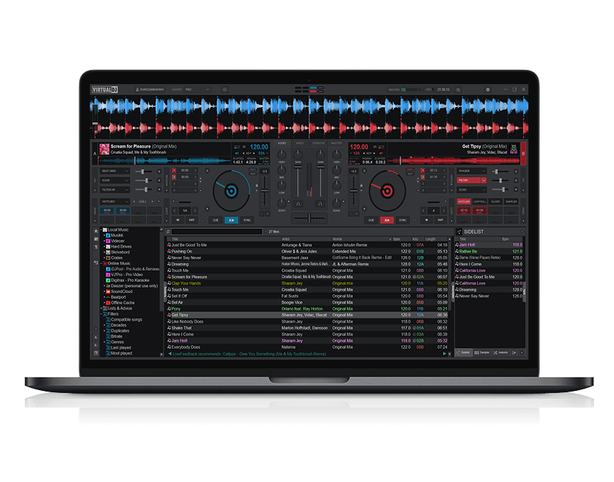 MULTI-DECK STAND-ALONE DJ MIXER in Virtual DJ 2020
