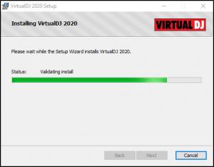 installation start of Virtual DJ 2020