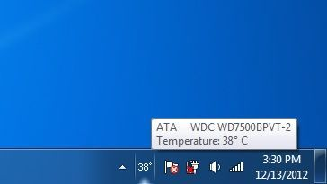 system try icon displaying the temperature