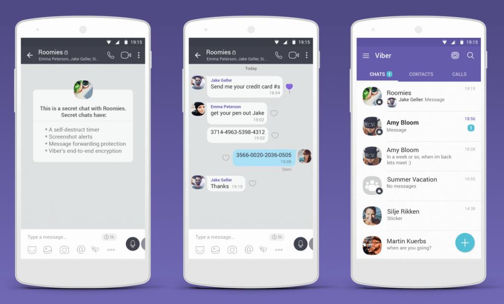 Secret chats in Best Video Chat App