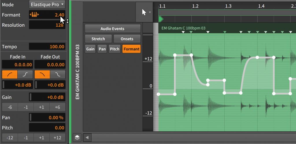 Time Stretching of Free Music Making Software