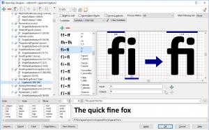 Visual OpenType Designer in Free Font Creator