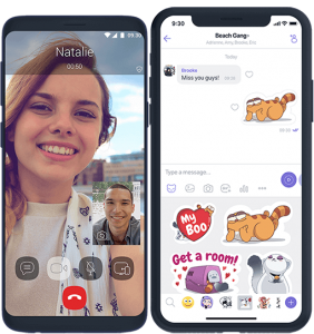 make a video call and send sticker image