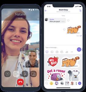 make a video call and send sticker image