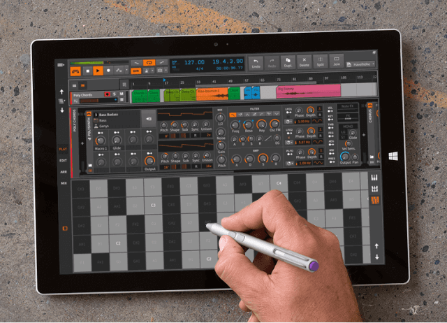 multitouch support for Free Music Making Software
