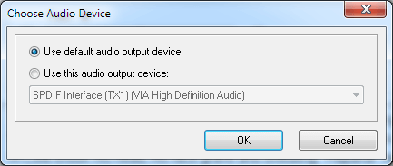settings for audio devices in Balabolka Text Reader