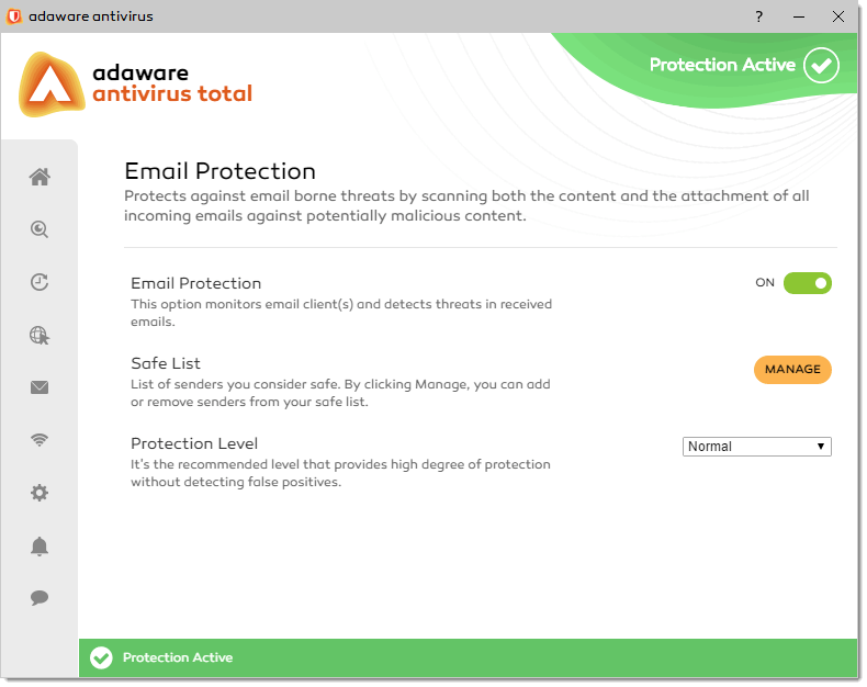 email protection in Adaware