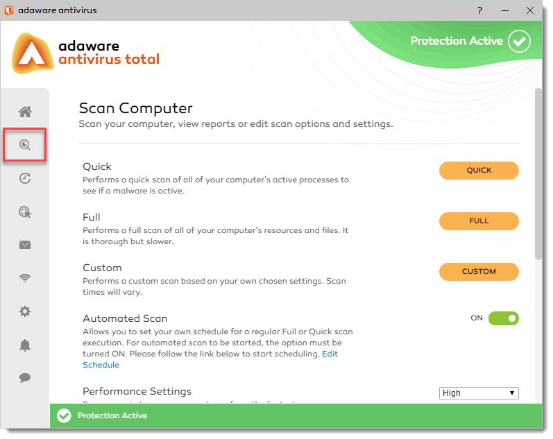 on demand scanner to scan your pc