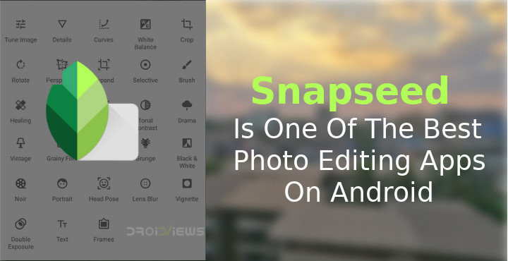 Snapseed Banner For The Best Photo Editing App