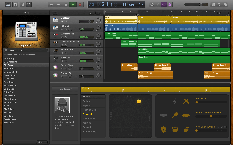 garageband to edit music