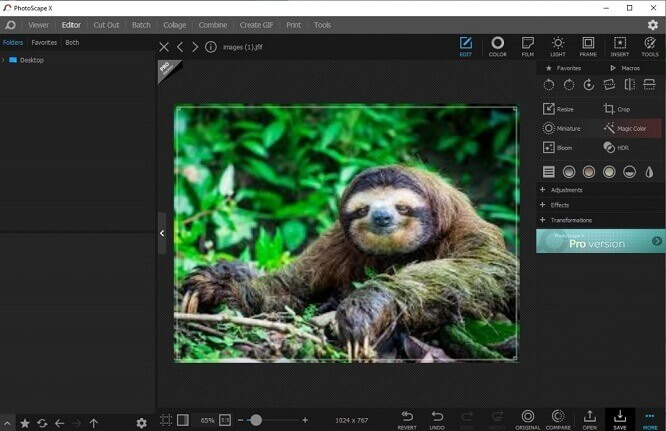 Photo editor for Windows