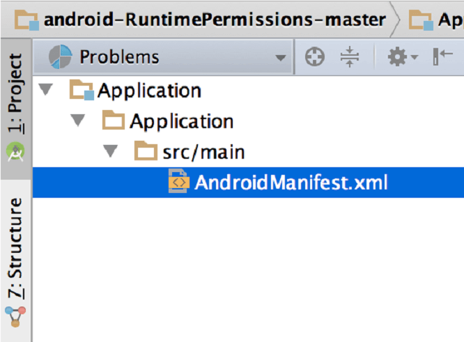 manifest file in android studio: Software development tool