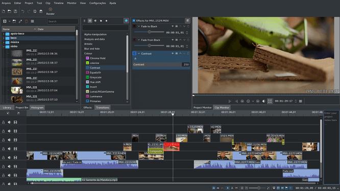 non-linear video editor