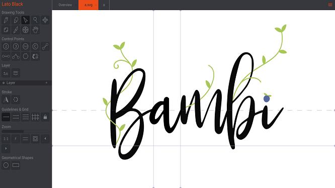 Free font editor
