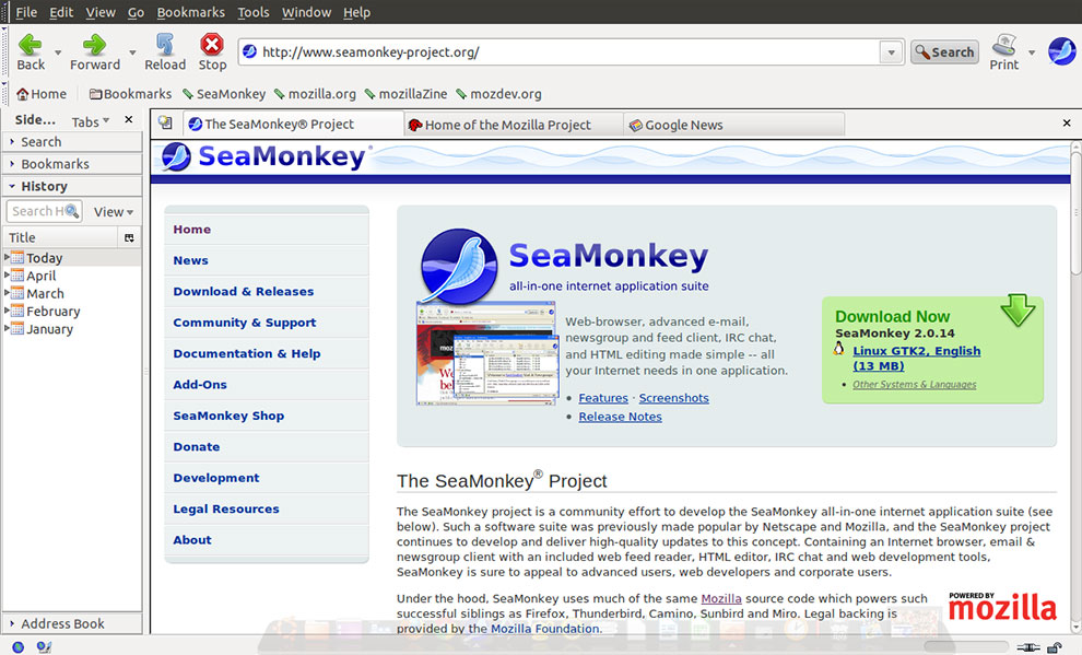 SeaMonkey Software Free Download