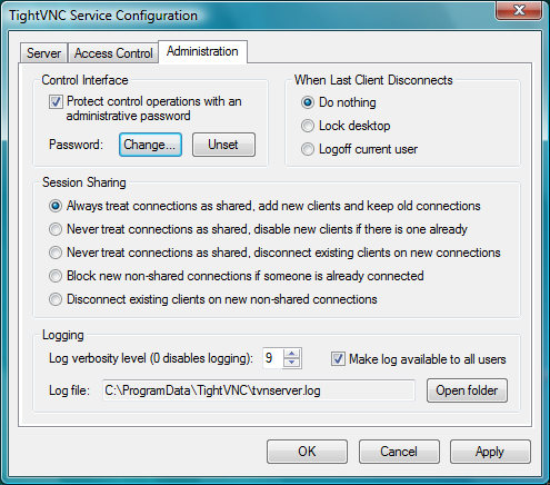 TightVNC Remote Control Software For PC